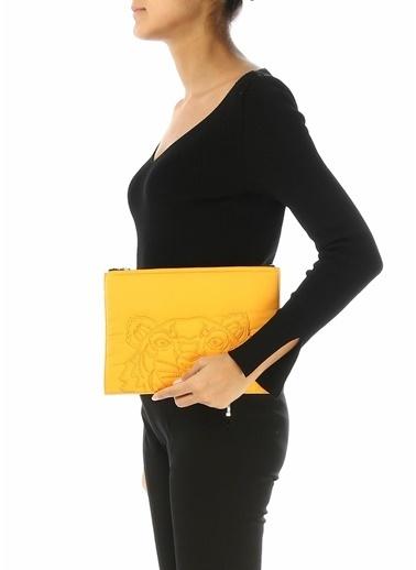 Kenzo Clutch / El Çantası Sarı